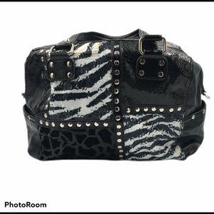 Kathy Van Zeeland Black and White Sequin Bag